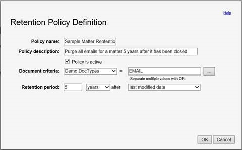 Retention Policies In Netdocuments