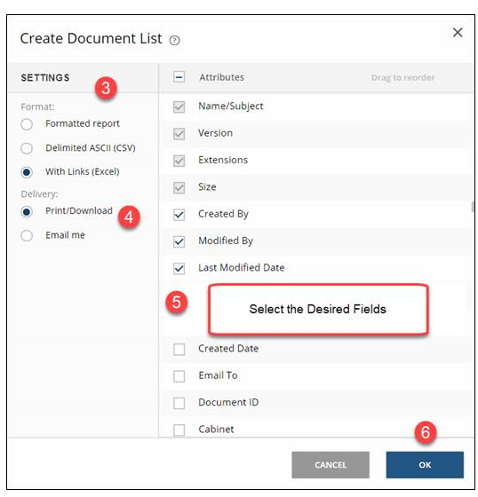 Create Document List for Print List in NetDocs | Legal Document Management