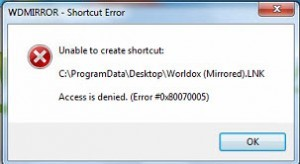 Error from installing Worldox on a Workstation
