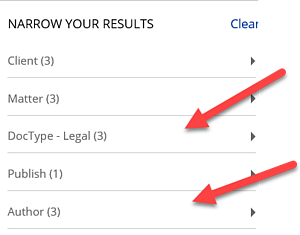 Filtering Search Results in NetDocs - Narrowing Your Results