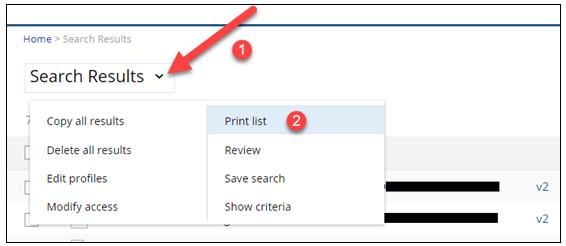 Print List function in NetDocs