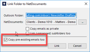 ndMail copy pre-existing emails too