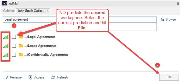 ndMail predicts desired workspace