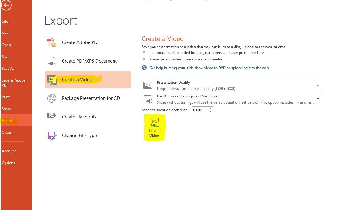 microsoft powerpoint video